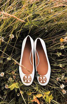 f983f946e Tory Burch Ballet Flats Sapatilhas De Balé, Jogo Do Sapato, Sapatos De  Verão,