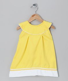 Take a look at this Molly Pop Inc. Yellow Yoke Dress - Infant, Toddler & Girls by Timeless Attire: Kid's Apparel on #zulily today!