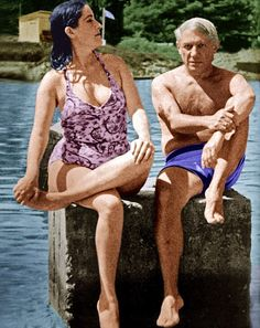 Picasso with lover Dora who once told him: 'As an artist you may be extraordinary, but morally speaking you are worthless.'