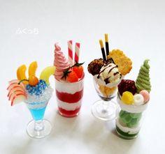 Cute Polymer Clay, Cute Clay, Polymer Clay Charms, Diy Clay, Clay Crafts, Miniature Crafts, Miniature Food, Clay Miniatures, Dollhouse Miniatures