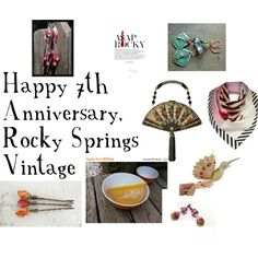 Happy 7th Anniversary Rocky by gail-brigham on Polyvore featuring Mary Frances Accessories, Lulu Guinness, Pyrex and ASAP