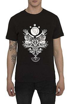 bebe82bb97a54 Mens Alternative Styled T-Shirt - Graffiti Tattoo Punk Rock Indie Music  Band Metal Skull Goth Emo (Medium