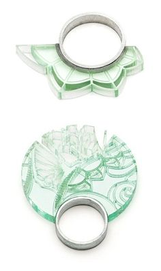 Sentences. Can't even form them. The UK's Joanna Bury lasercuts perspex to create these etched-glass-like beauties. Love.