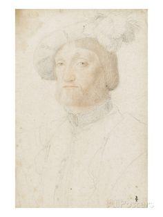 Portrait de François de Voisins (1490-1542) reproduction procédé giclée par Jean Clouet sur AllPosters.fr