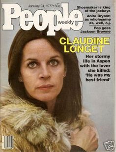 Claudine Longet on the cover of People Magazine