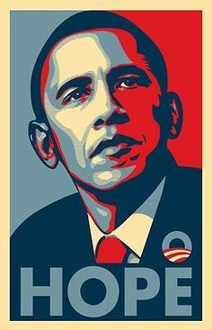 Barack Obama: Barack Obama Fairey (Hope) Rare Campaign Poster 16 X 22 - New BUY IT NOW ONLY: $12.99