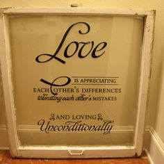 Repurposed vintage window frame hand painted window panes love is vintage window art handcrafted with love at by cammiecatescloset 10400 solutioingenieria Image collections