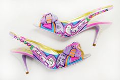 Wedding Shoes  Bridal Shoes  Hand painted Heels by PonkoWorld, $195.00