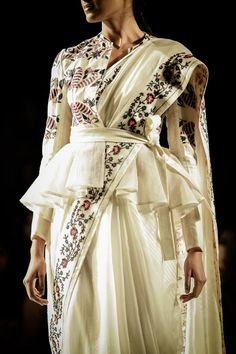 Rahul Mishra Couture 2016 For the modern day bride, elements from oldest hand techniques and artworks inspired by delicate flora of monsoons,