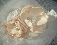 Nuevo bebé azul y flor blanca venda venda de Eater venda