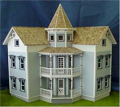 Rocky Mountain Dollhouses in Scale From Fingertip Fantasies Dollhouse Miniatures Dollhouse Kits, Victorian Dollhouse, Dollhouse Miniatures, Fairy Houses, Play Houses, Doll Houses, Modern Dollhouse Furniture, Doll House Plans, Sims House