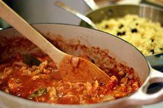 Mediterranean Chicken Stew with Cinnamon Couscous.