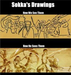 i was trying to inturprate what we see... remembering what sokka said... i eventually got them all. it s pretty awesome....
