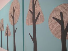 Newspaper Tree Canvas | NikkiikkiN