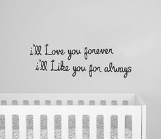 This is a cute wall quote wall decal that is easy to apply and will brighten any room, especially a nursery, baby's room, kid's room, children's room, or playroom.    Each order comes with a practice decal to make sure that decals stick to your wall and to give you practice applying decals.