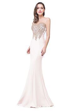 vestido de festa elegant cheap mermaid evening dresses 2017 appliques lace  womens gown for formal party vestido festa