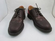 Mark McNairy - Multi-Texture Country Brogue Wingtip Shoes (Brown with Red)