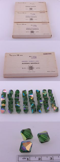 Crystal 179267: Vintage Swarovski Crystal Bead #5301 Bicone 12Mm Green Turmaline Ab144 Pieces BUY IT NOW ONLY: $60.0