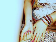 bird tattoo, wrist tattoo