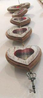 Ateliê Le Mimo: DIVERSOS Móbile Coração Peça em madeira