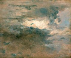 John Constable: Study of Clouds. Painted at Hamstead in the summer/autumn of 1822