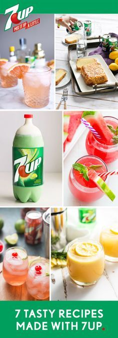 Whether you're grabbing inspiration for a party cocktail or after-dinner creation, see how 7UP adds flavor and fizz to this collection of 5 Drink Recipes. For your next party, you'll agree that nothing mixes up your occasion like sweet and refreshing citrus flavor. Head to Target to grab all the essential ingredients you'll need to make one of these homemade treats for your friends. Please drink responsibly. Must be 21 or older to consume alcohol.