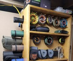 I wanted a nice-looking way to store and display my fly-fishing rods, reels and accessories. I did a lot of searching and Fishing Fly Fishing Gear, Best Fishing, Trout Fishing, Fishing Lures, Fishing Knots, Fishing Basics, Fishing Stuff, Fishing Tackle, Fly Fishing Beginner