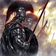 Samurai by CKGoksoy on DeviantArt Foto Fantasy, Dark Fantasy, Fantasy Armor, Medieval Fantasy, Spartan Tattoo, Rome Antique, Roman Warriors, Greek Warrior, Dark Warrior