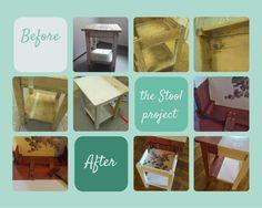 Renovating an old stool