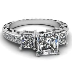 2.48ct Princess Shape Diamond Engagement Ring EGL by blueriver47, $8362.00