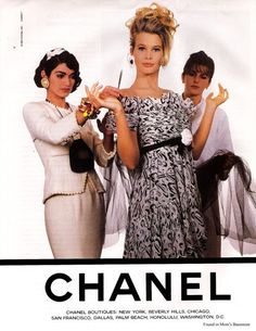 Claudia Schiffer for Chanel, 1990s