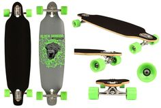 Light Green Wheels, nice black Longboards with nice shiny green wheels. Come on tour! Take the trip :)
