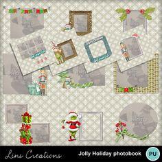 Digital Scrapbooking Kits | Jolly Holiday photobook-(LinsCre) | Craftable - Printables, Family, Holidays - Christmas, Kid Fun | MyMemories