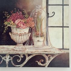 Oil Painting Stretched Canvas Prints Still Life White Canvas Art, White Art, Decoupage Vintage, Vintage Art, Vintage Pictures, Pretty Pictures, Diy Image, Decoupage Printables, Painting Still Life