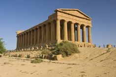 Temple of Concord  Agrigento Sicily - Google  ...valley of the temples...it is a beautiful walk through the ruins of  Greek and Roman history