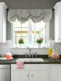 how to make a nosew diy window valance from canvas dropcloths 11 magnolia
