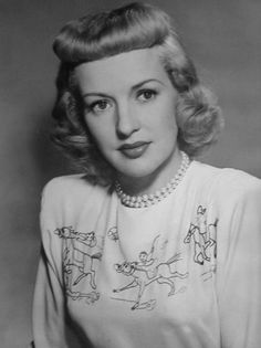 Betty Grable: check out her crazy shirt!
