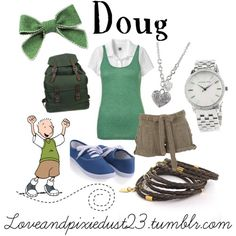 Doug Funnie by Love featuring silver jewelry
