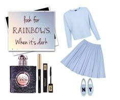 """""""Bombshell In Blue"""" by dreamingdaisy ❤ liked on Polyvore featuring Joshua's and Yves Saint Laurent"""