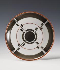Nora Gulbrandsen for Porsgrunn [Norwegian] 1930 Spirals, Art Deco Design, Ceramic Plates, Bauhaus, Circles, Masters, Geometry, Objects, Museum