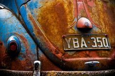 Rusted out Abstract VW Beetle by nruebotham, via Flickr