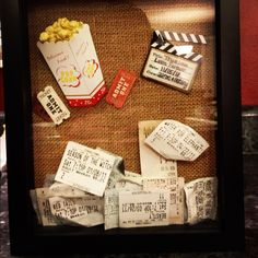 Movie ticket shadow box. My anniversary present for my boyfriend.