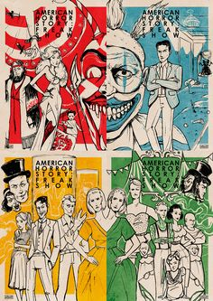 AHS: Freakshow inspired posters