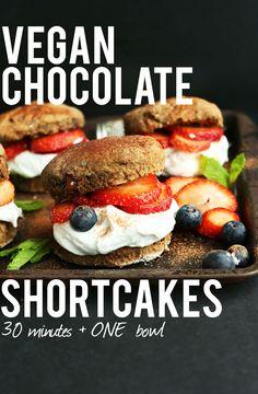 Double Chocolate Shortcake | Minimalist Baker