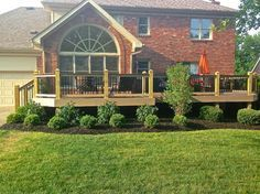landscaping around raised deck - Google Search