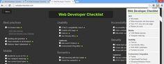 Web Developer Checklist chrome extension web designer