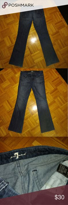 7 for all mankind boot cut jeans Very nice 7 for all mankind jeans  Size 29  Waist across 15 3/4  Rise 8 Inseam 33 7 For All Mankind Jeans Boot Cut