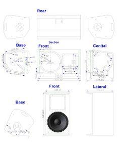 Skema Box speaker monitor panggung 12 inch - BANTOEL .COM Sound Monitor, Speaker Plans, Speaker Box Design, Drum Music, Pa Speakers, Subwoofer Box, Audio Amplifier, Loudspeaker, Planer