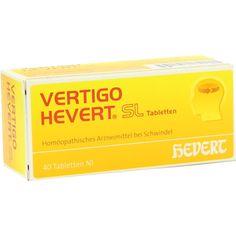 VERTIGO HEVERT SL Tabletten:   Packungsinhalt: 40 St Tabletten PZN: 06766269 Hersteller: Hevert Arzneimittel GmbH & Co. KG Preis: 4,80…
