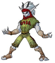 View an image titled 'Prison Jak Art' in our Jak II art gallery featuring official character designs, concept art, and promo pictures. Character Design References, Character Art, Kaito, Prison, Jak & Daxter, Dark Warrior, Dark Power, Fantasy Characters, Fictional Characters